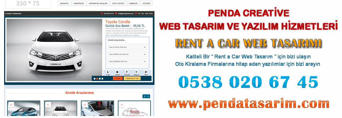 Rent a Car Web Tasarımı